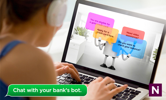 A delightful banking experience through Netiks Chatbot and Video Chat.